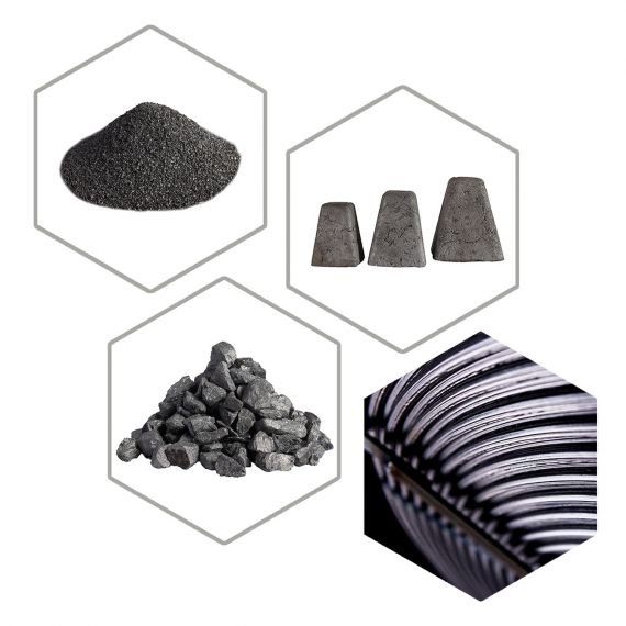 We offer a wide variety of products for metalurgic industry.
